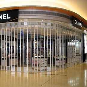揭東區店鋪水晶快速門案例